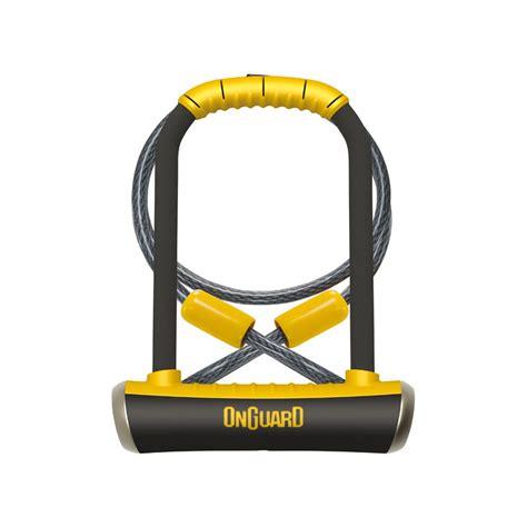 Steel U Bolt Lock Gembok Yellow u padlock pitbull 115 x 230mm with steel cable