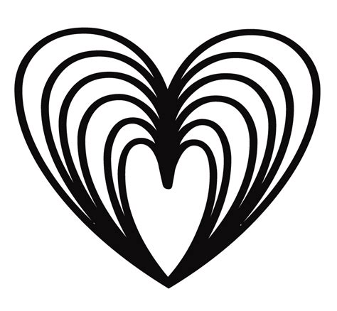 Rainbow Hearts Coloring Pages | rainbow heart coloring pages coloring home
