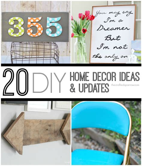 diy home updates 20 diy decor ideas updates the crafted sparrow