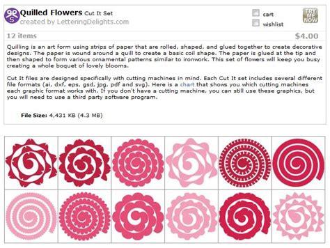 Quilled Flower Templates Svg Cricut Pinterest Template Flower And Cricut Large Paper Flower Template Cricut