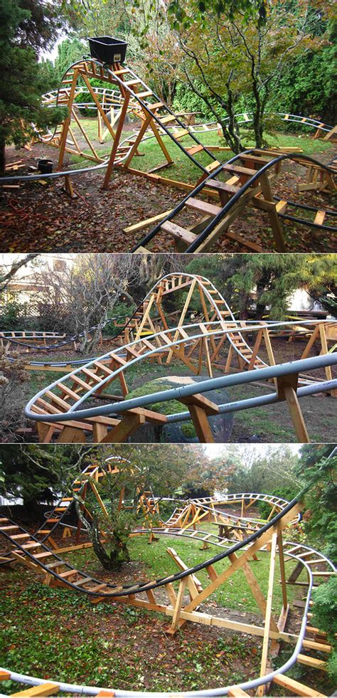 roller coaster in the backyard former boeing engineer builds awesome roller coaster in