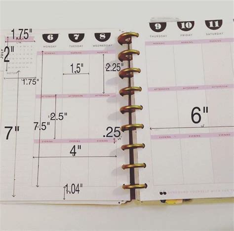 free printable planner pages classic size measurements for the happy planner very helpful when