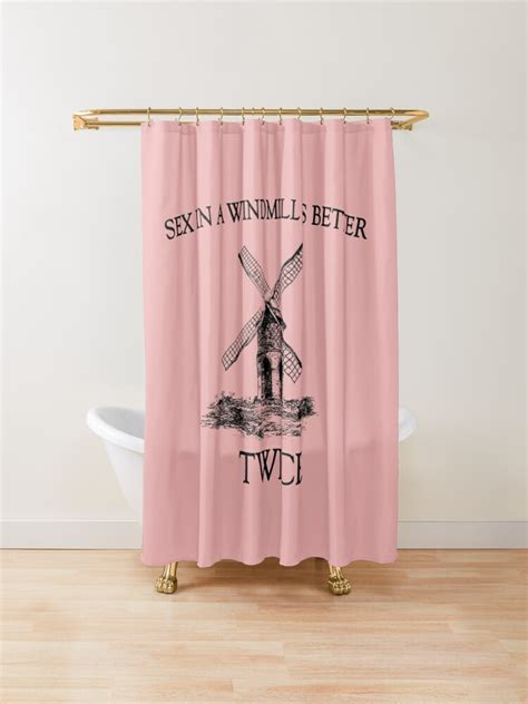 Windmill Sex Twice Bachelorette Shower Curtain By