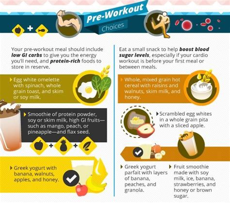 7 Great Pre Workout Snacks by Healthy Pre Workout Choices Food