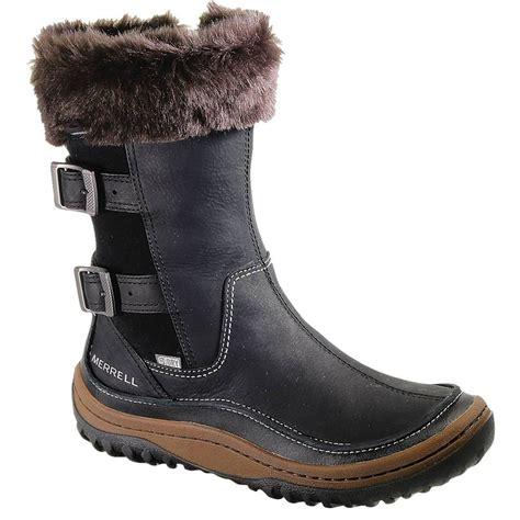 merrell womens decora chant black waterproof calf boot j48420
