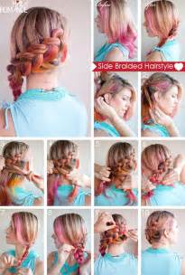 how to braid hair step by step hair how to side braided hairstyle tutorial hair romance