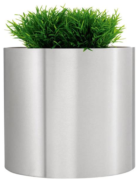 contemporary plant stand modern indoor planter pots round diamante greens round stainless steel planter contemporary