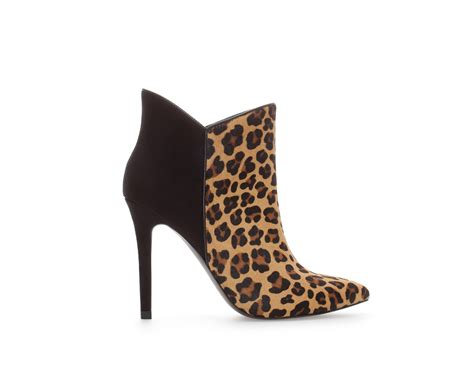 zara leopard combination ankle boot in animal leopard lyst