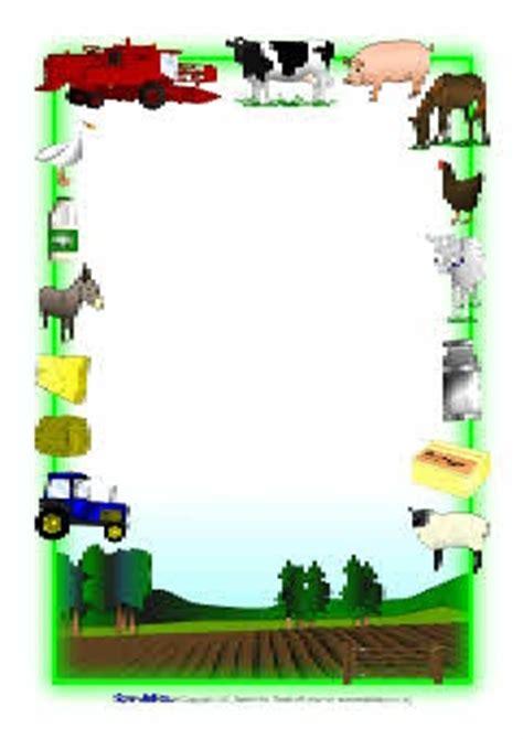 farm writing paper farm themed a4 page borders sb3887 sparklebox