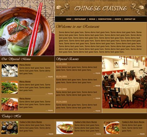 free templates for restaurant website restaurant template free website templates