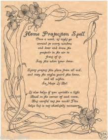 home protection spell page parchment for book of shadows