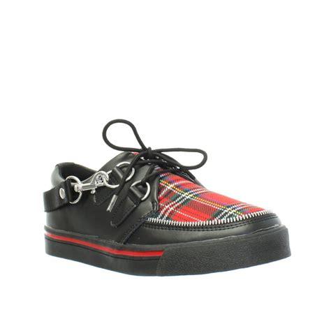 sneaker creepers womens mens tuk shoes black tartan sneaker brothel