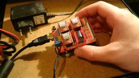 arduino cnc shield   stepper motor drivers youtube