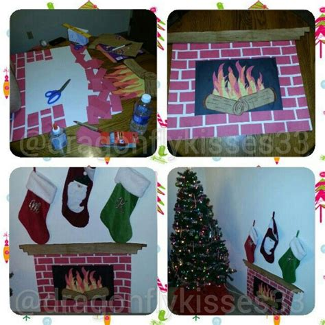 How To Make A Board Out Of Paper - make your own fireplace all you need poster board