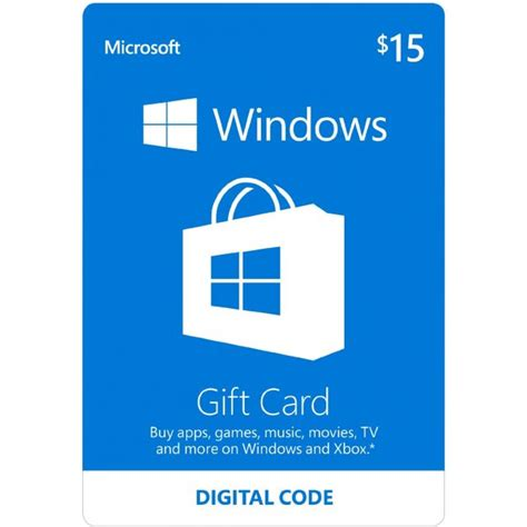 Pc Gift Card Stores - microsoft windows store gift card usd 15 digital