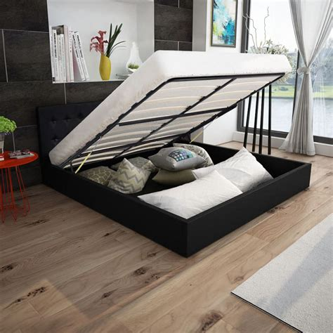 king size bett maße vidaxl co uk vidaxl bed frame gas lift 5ft king size