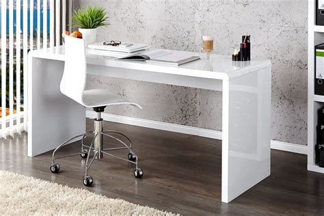 High Work Desk by Enzo White High Gloss Computer Office Desk Furniturebox