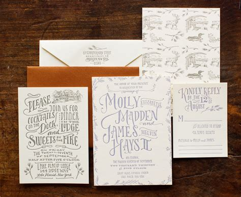 woodland wedding invites molly s cozy woodland toile wedding invitations