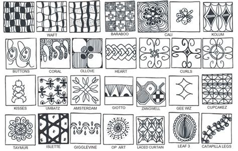 zentangle pattern books list of finished patterns found in the book all the