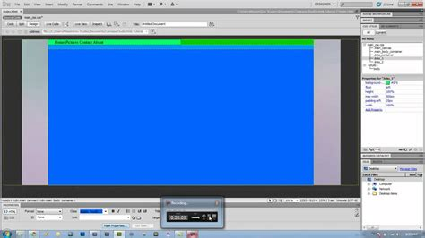 tutorial html div layout dreamweaver tutorial 1 div layout youtube