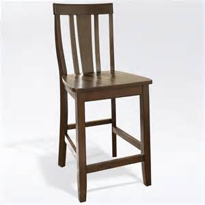 what height bar stool for 36 counter 24 quot counter stool shield back in vintage mahogany finish cf500124 ma
