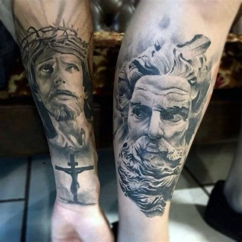 religious leg tattoos for men 100 religious tattoos for sacred design ideas