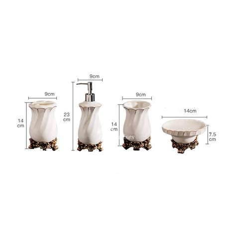 high bathroom set high end ceramic bathroom accessories set in white
