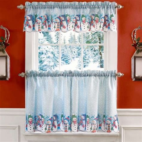 snowman curtains kitchen 51 best christmas curtains images on pinterest layered
