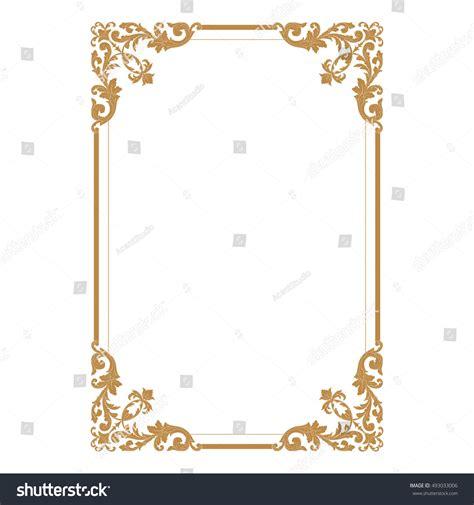 gold vintage design elements vector gold vintage baroque element ornament retro stock vector