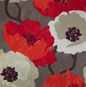 modern floral fabric large scale floral print design