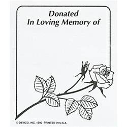 in loving memory templates demco demco 174 bookplates donated in loving memory