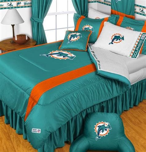 miami dolphins nfl twin chenille embroidered comforter set with 2 shams 64 x 86 22 best nfl logos images on dolphins miami dolphins logo and sports teams