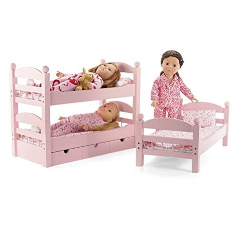 18 Inch Doll Triple Bunk Bed   Stackable Wooden Furniture