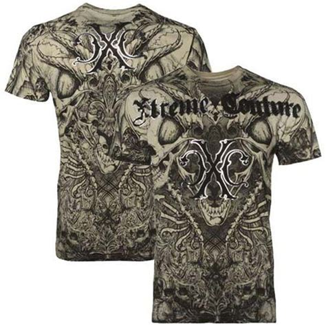 couture tattoo xtreme couture affliction mens t shirt aztec skulls