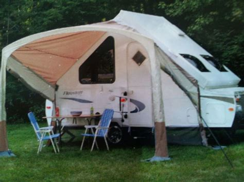 Rv Awning Frame by Awning Screen Room On A Forest River Hardside A Frame Folding C Trailer For The Trailer