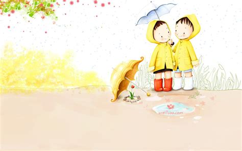 wallpaper sweet couple cartoon kim jong bok illustrations vol 04 sweet puppy love