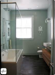 Small Bathroom Makeover Pictures - this would be a good way to keep the current size of our bathroom give me a great soaking tub