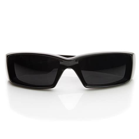 Gangster Laid Back Glam In Shades Of Grey by Gangsta Shades Locs Square Inset Lens Sunglasses