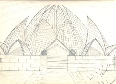 lines on lotus temple lotus temple drawings