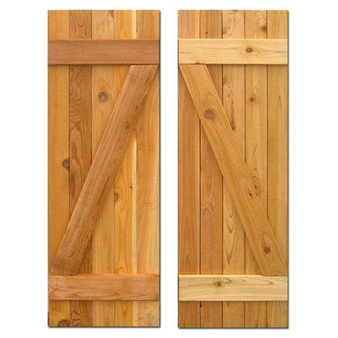 cedar z shutters design craft millworks 15 in x 48 in board n batten