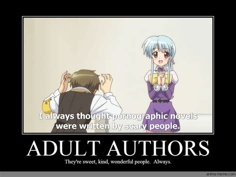 adult authors anime meme com