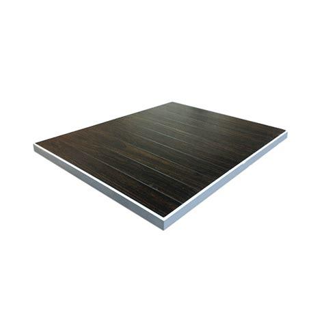 aluminum edge espresso patio table with aluminum edge