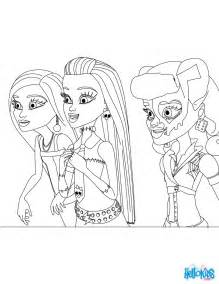 coloring pages for monster high dolls collections