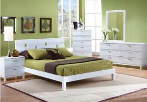 Bedroom Image Gardenia White 5pc Platform Bedroom Bedroom Sets
