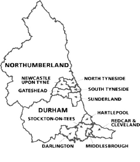 Northeast Map Outline by East Contacts