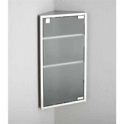 bilbao corner mirror frost glass bathroom wall cabinet