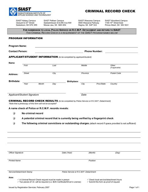 Criminal Record Review Criminal Background Check Form Template The Top 2