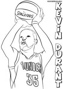 kevin durant coloring pages coloring pages download print