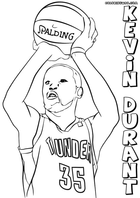 coloring pages kevin durant kevin durant coloring pages coloring pages to