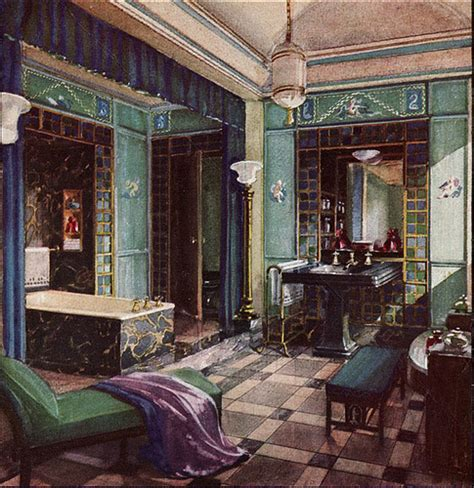 1920s interior design 1930s interior design 1920s home 1929 opulent crane bathroom early in the 1920s